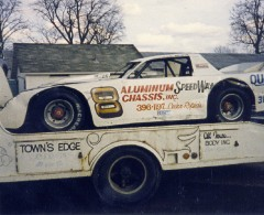I never ever saw a Darrell Dake race car brought to the track in an enclosed trailer. He always had a Ford flatbed truck bringing his cars to the races. (Photo by Billy Hall)