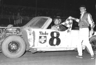 Darrell Dake at Sterling Speedbowl circa 1966. (Andy Hampton photo collection - Rock Falls, Illinois)
