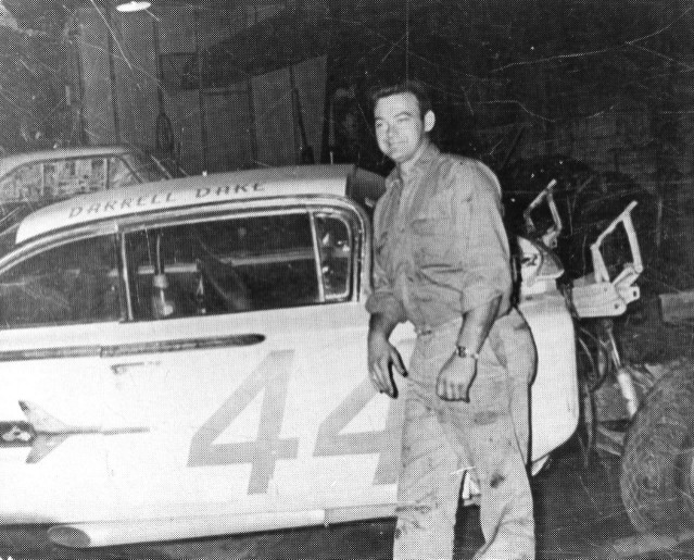 Kyle Ealy photo collection, Hawkeye Racing News This is a 1959 or 1960 Chevy driven by Darrell to a win at the Illiana Speedway (dirt oval) in Schererville, Indiana on July 29, 1960. The starter is Jack Minster. Earlier in the year Darrell raced in the Daytona 500. (Stan Kalwasinski photo) Darrell finished 16th in the 1960 Daytona 500 after starting 12th. He drove car #48. Races didn't pay much back then. He earned $325 for his finish. He did beat Parnelli Jones and Fireball Roberts among others. Junior Johnson was the race winner. His first place prize was $19,600. Darrell would also race in the 1961 Daytona 500 and finish 46th out of 58 after starting 35th. Marvin Panch won that race.