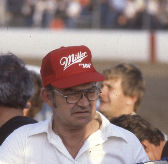 Darrell at Hawkeye Downs in 1984. (Randy Lewis photo).