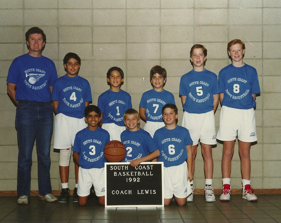 At the beginning of 1992 I was busy coaching son Jim's (#8) basketball team.