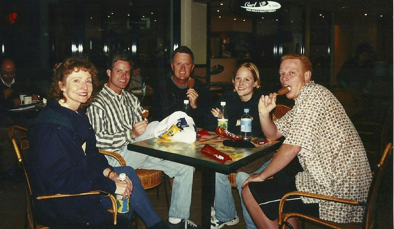 The family visits Kristy in Australia while she was a student at the University of Sydney.