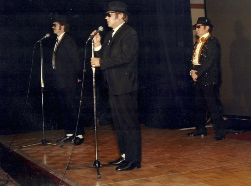 "This was one of the multiple occasions where I played ""Elwood"" of the Blues Brothers on stage at our national sales meeting."