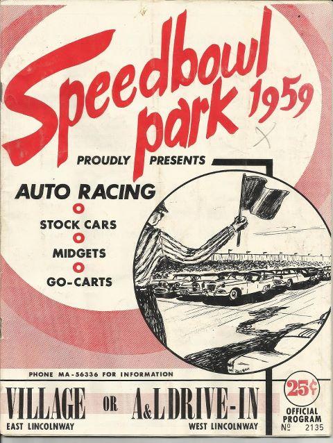 Sterling Speedbowl Park - 1959 race program