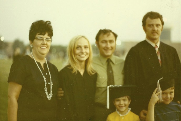 My mother Betty, Carol, my stepfather Bill and my brother and sister (twins!) Lynn and Mark.