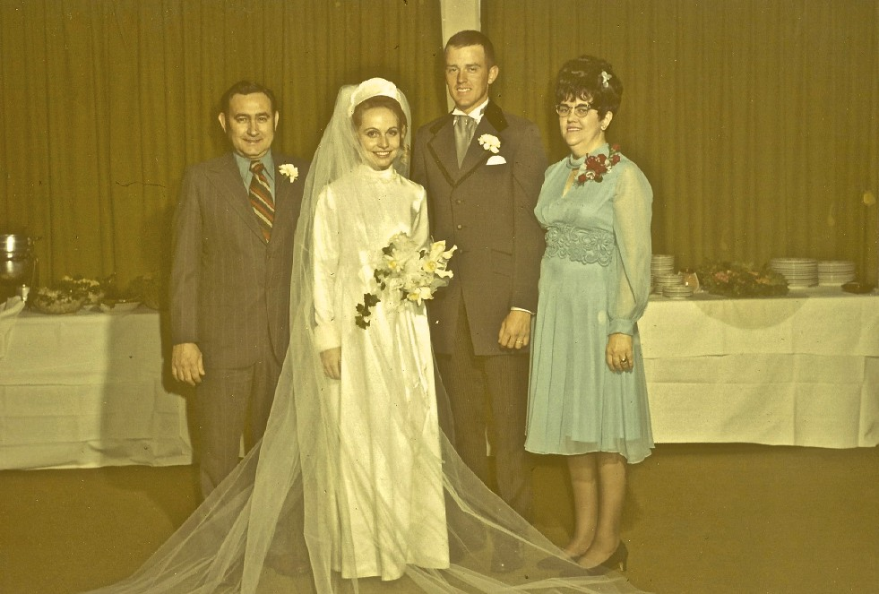 My stepfather Bill and mother Betty on our wedding day in 1972.