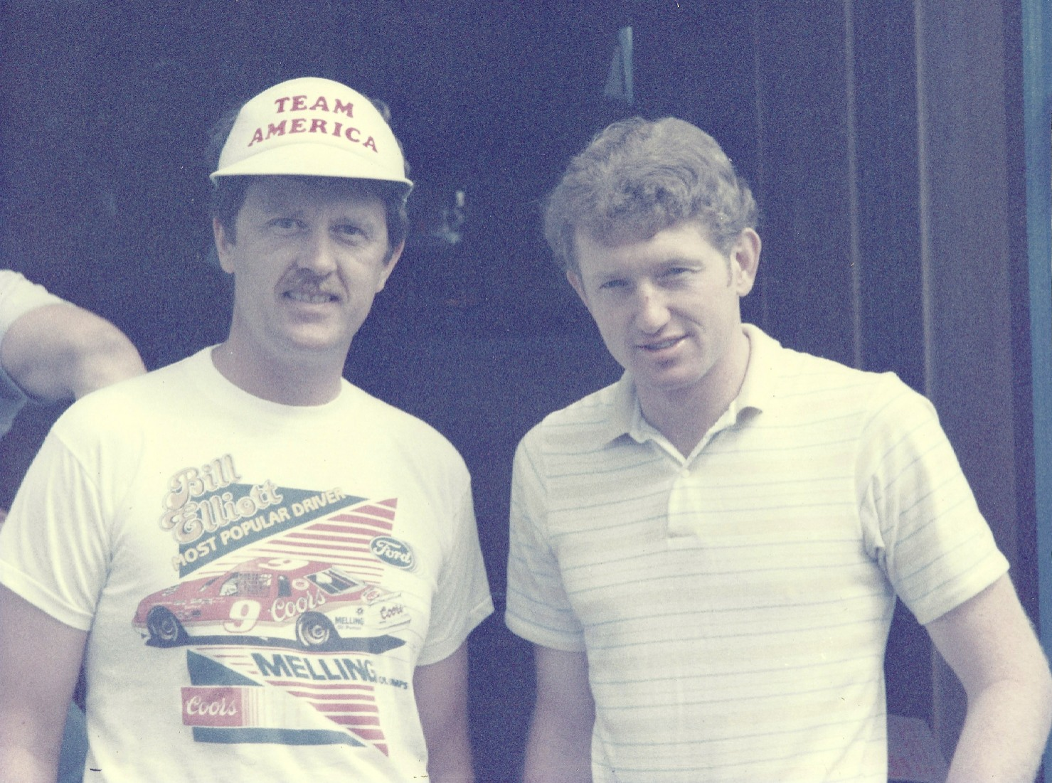 Luckily I was wearing a Bill Elliott t-shirt the day I first met him at the Evergreen Speedway (WA) in 1985.