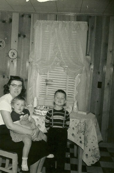My mother and sister Becky - circa 1955.