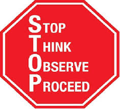 stop think observe proceed