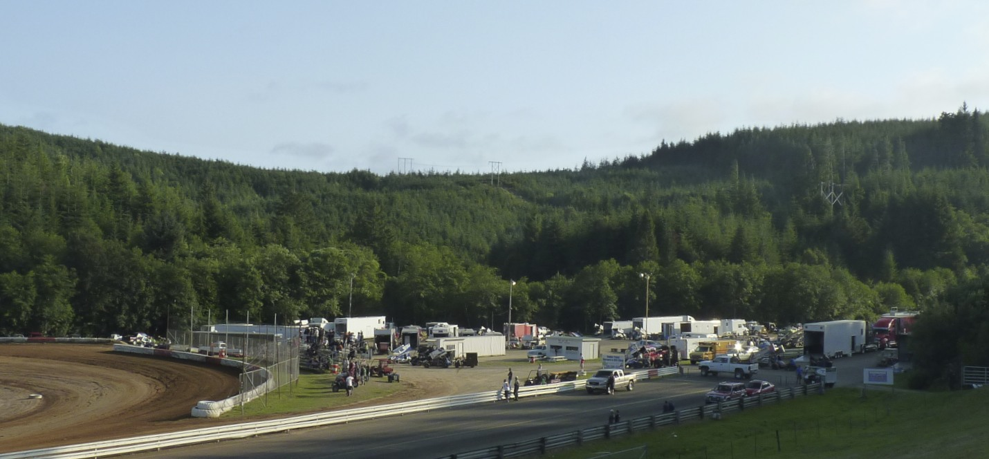 Coos Bay Speedway pit area.