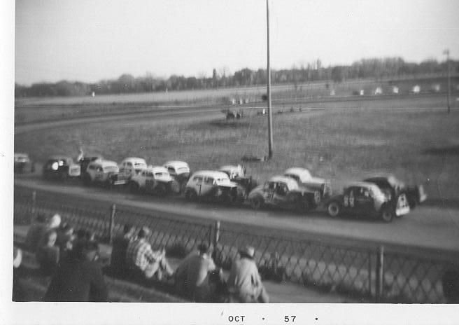 Racing at Sterling in 1957.