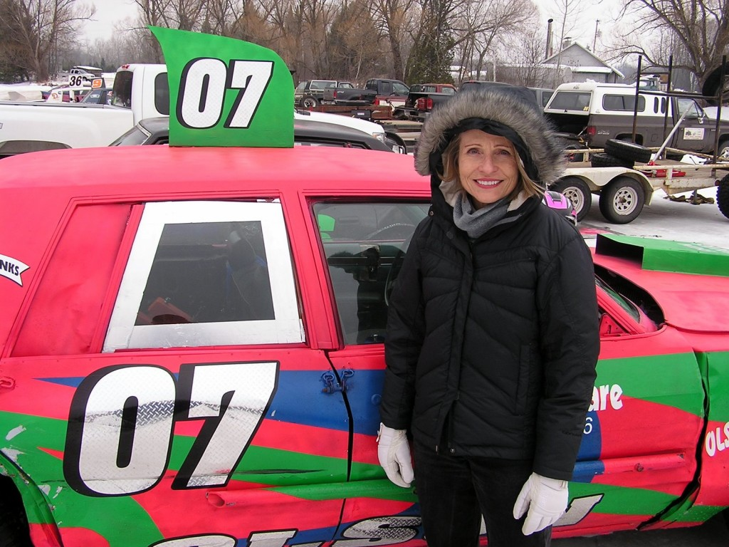The best thing about Carol is that, with a little encouragement, she's willing to try just about anything.  She would race this car in the feature event at the Lake Speed Ice Track in Wisconsin.