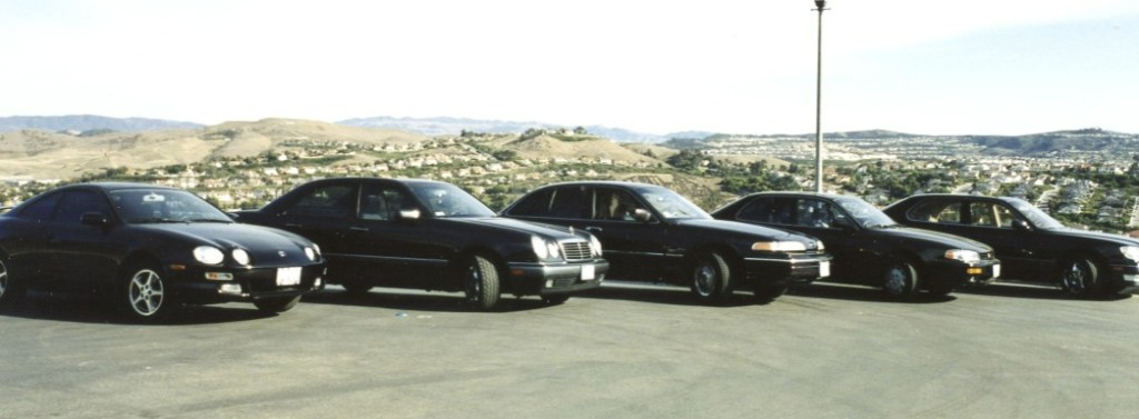 At this point in 1999 all of the five family cars sported a similar paint scheme.