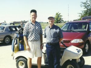 A round of golf with National Speedway Directory owner Allan Brown in Aberdeen, South Dakota.
