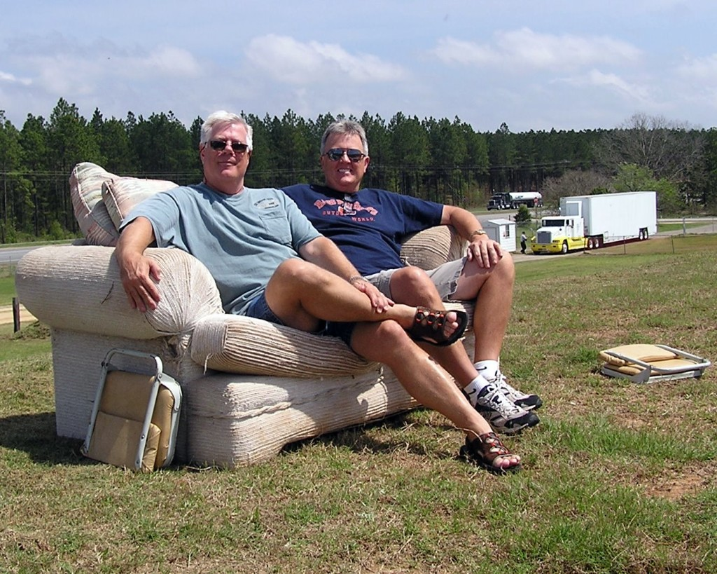 """Jim Sabo and I were given the """"premier"""" seats in the house at the Screven Motor Speedway!"""