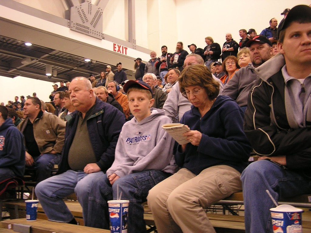 Trackchaser John Osowski and his family enjoy the racing at Devos Place.