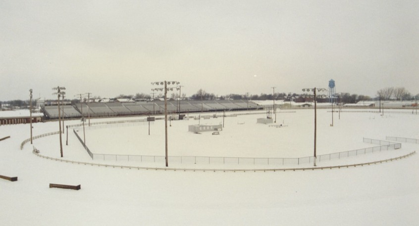 How many people have seen the famous Knoxville Raceway looking like this? I stopped during the winter on my way to a working assignment in Iowa City.
