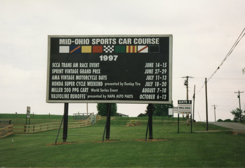 The event I attended in September, 1997 wasn't even listed on the track's schedule board.