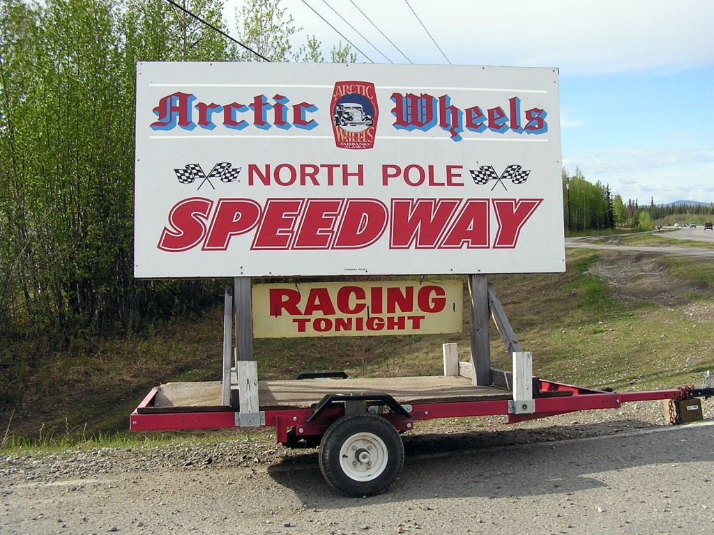 I can't trackchase much further north than the North Pole Speedway!