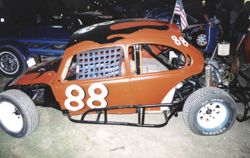 You might expect a competitor like this to show up at a place called Outlaw Speedway.