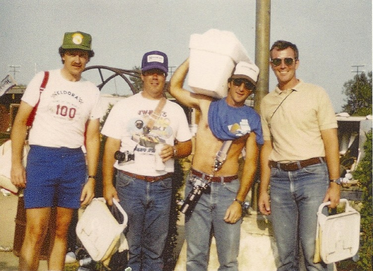 L-R, Randy, Jim Sabo, Pete Kreyling, John Kane. On one of our many visits to Eldora and the World 100.