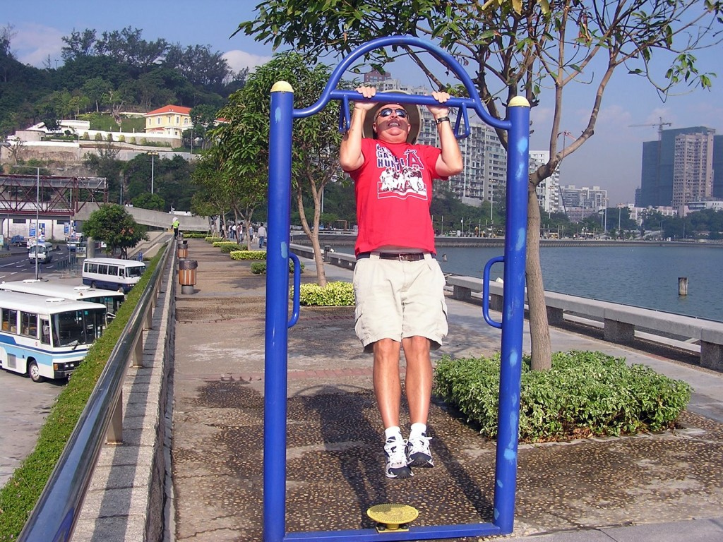 I figured 19 pull-ups should about do it before heading into the Macau (China) Grand Prix.