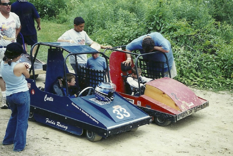 These were some unusual machines competing at the Starlite Speedway.  Oh by the way, this track was visited on June 30, 2002.  That's the date I retired!