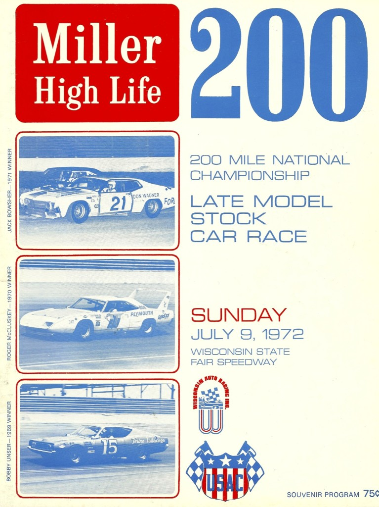 "Seeing the USAC stock cars race at Milwaukee was the first ""big time"" racing I had ever seen."