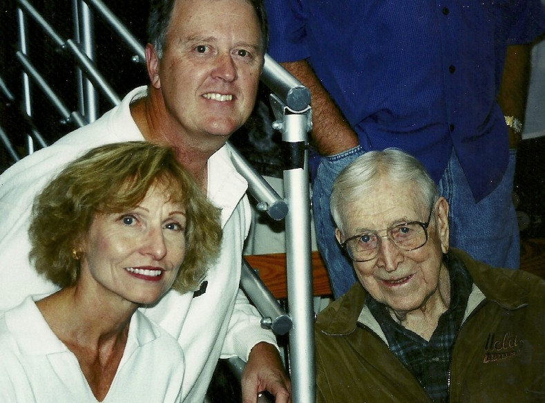 As big UCLA fans we hung out with legendary basketball coach John Wooden whenever we could.