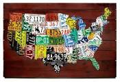 u.s. map license plates