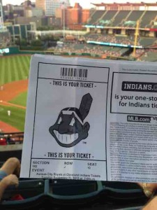 Indians game ticket