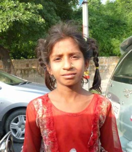 indian girl in red dress