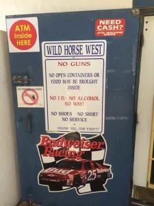 Wild west restaurant sign