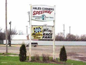 Hales Corners Speedway sign