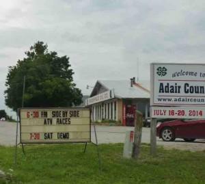 adair county fairgrounds sign