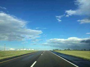 North dakota blue skies