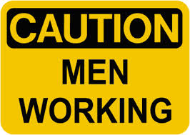 caution men working