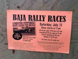 baja rally race poster