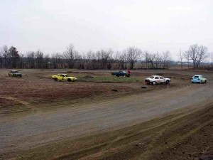 The inner oval was the original track at the Grand River Speedway.