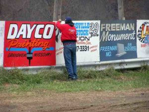 A promoter's job is never done and Greg Clemmons, the promoter, does about every job at this track.