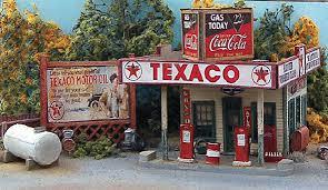 old time filling station gas station