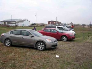 """By mid-afternoon I had relocated the National Rental Car Racing Chevy Malibu to the spectator parking area. I could use it as a """"warming hut"""" there."""