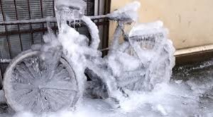 frozen bike icycle