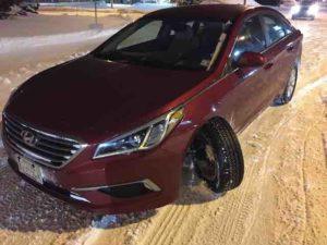 rental car with broken suspension