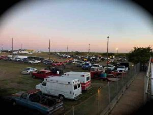 85 speedway pit area