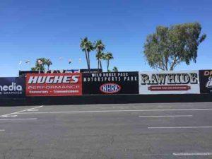 White Horse Pass Motorsports Park sign