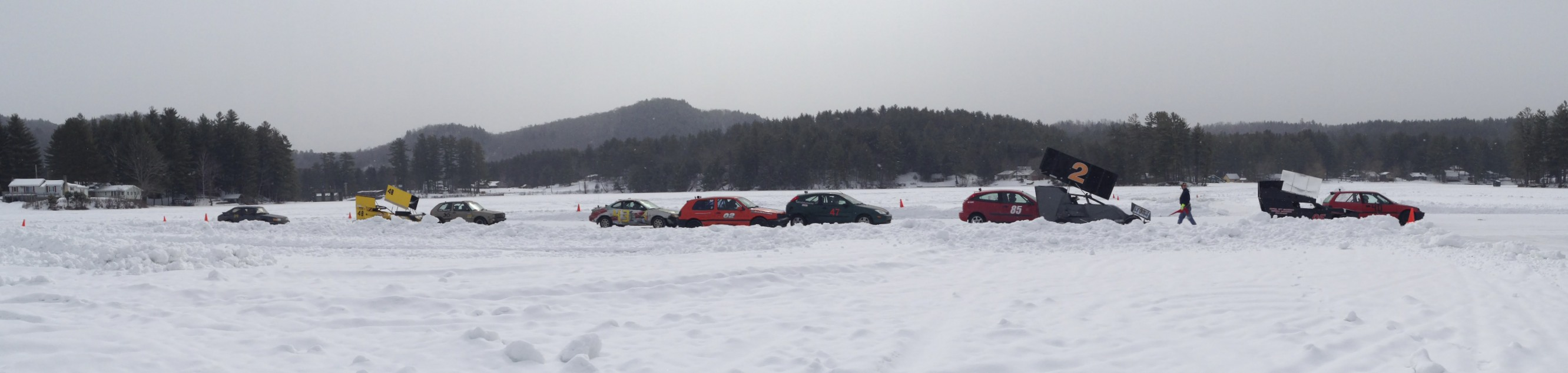 Racing action on the lake.