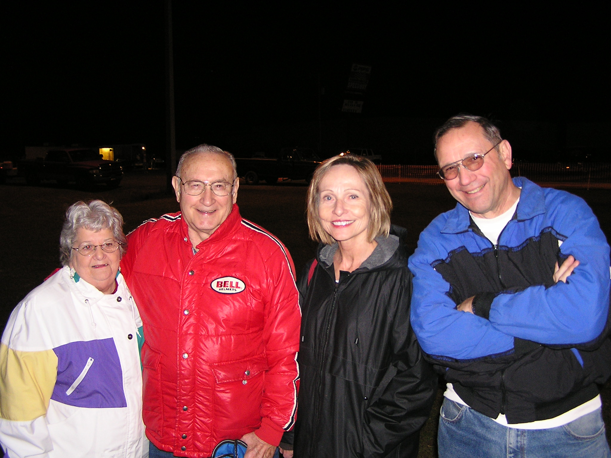 Betty, Bill (my stepfather), Carol and Ed on the night of my 1,000th track in Auburndale, Florida.