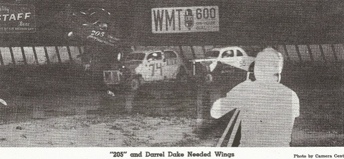 "This is the only photo I have of Darrell Dake from the ""coupe"" days. It comes from Bob Dixon of Waterloo, Iowa. Bob tells me this is from a 1953 Cemar Acres racing program. This track was located between Cedar Rapids and Marion, Iowa."