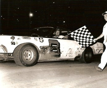 Darrell was famous at the Davenport Speedway. This is another feature win.